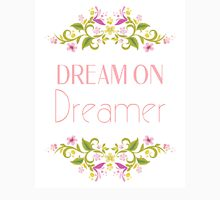 Dream On Dreamer Womens Fitted T-Shirt