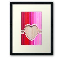pencil love Framed Print