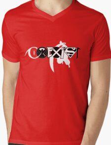 Coexist - Comic Style Mens V-Neck T-Shirt