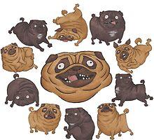 Wheel of Pugs by Alex Trussell