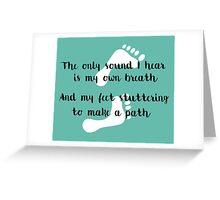 Rattlesnake Lyrics Highlight Greeting Card