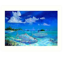 Tropical Bonefish Seascape - A Place I'd Rather Be Art Print