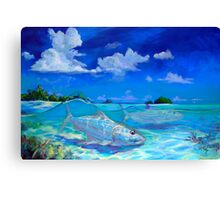 Tropical Bonefish Seascape - A Place I'd Rather Be Canvas Print
