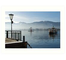 Boat-trip on the Wolfgangsee Art Print