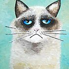 Cattitude artwork from original painting by hjmart