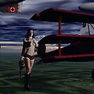 Sky Captain and the Infamous Red Fokker by Sazzart