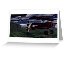 Sky Captain and the Infamous Red Fokker Greeting Card