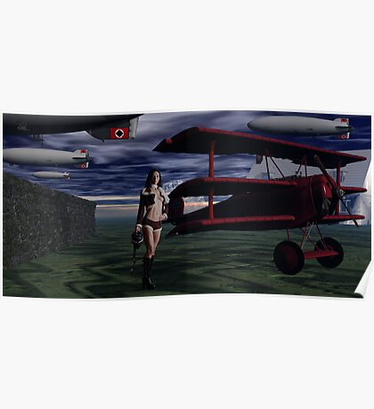 Sky Captain and the Infamous Red Fokker Poster