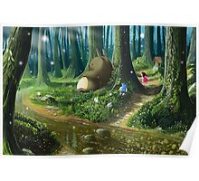 Totoro and Mei Poster