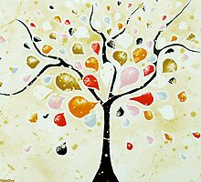 Tree of Dreams - artwork from original painting by hjmart