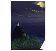 Totoro playing the ocarina Poster