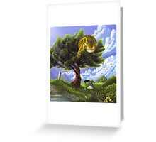 Totoro and Catbus Greeting Card