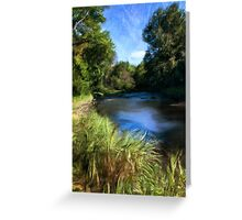 Stream of Blue Greeting Card