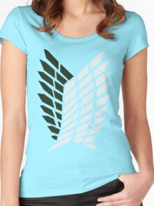 Attack On Titan - Survey Corps Logo Women's Fitted Scoop T-Shirt