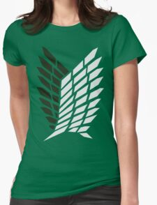 Attack On Titan - Survey Corps Logo Womens Fitted T-Shirt