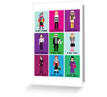 8-Bit Fashion Icons Greeting Card