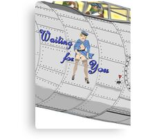 Aircraft Nose Art; Waiting for You Canvas Print