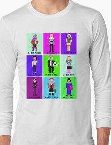 8-Bit Fashion Icons Long Sleeve T-Shirt