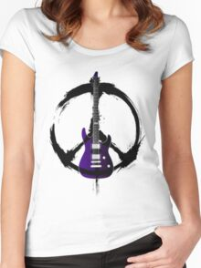 Peace Music Guitar Women's Fitted Scoop T-Shirt