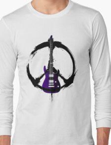 Peace Music Guitar Long Sleeve T-Shirt