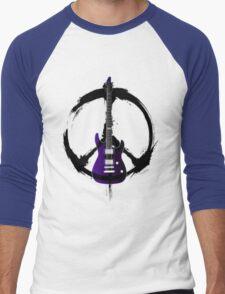 Peace Music Guitar Men's Baseball ¾ T-Shirt