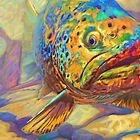 Brown Trout Fish Art - Walters Pool by Mike Savlen