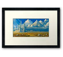 White Kingdom Framed Print