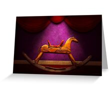 Toy - Hobby horse Greeting Card