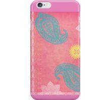 indian paisley motif iPhone Case/Skin