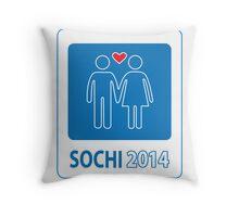 Sochi Love Games 2014 Throw Pillow