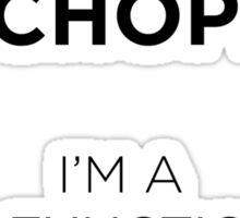 Sherlock Sociopath Shirt!  Sticker