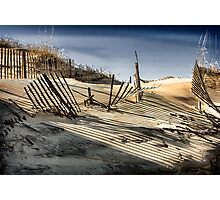 Dune Fences  Photographic Print