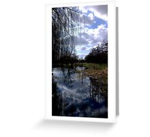 Sky Blue & White Reflections Greeting Card
