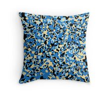 Multi Layer Abstract Pattern Blue/Cream Throw Pillow