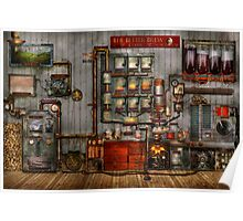 Steampunk - Coffee - The company coffee maker Poster
