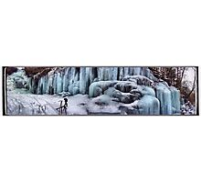 Wall of Ice at Ozone Falls Photographic Print