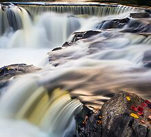Bond Falls Whitewater by Kenneth Keifer