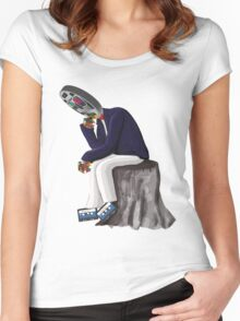 The Thinker - Retro Geek Chic Women's Fitted Scoop T-Shirt