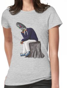 The Thinker - Retro Geek Chic Womens Fitted T-Shirt