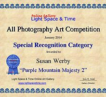 Special Recognition-All Photography- Purple Mountain Majesty by Susan Werby