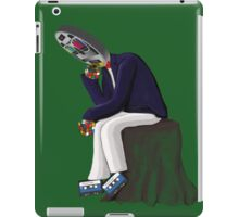 The Thinker - Retro Geek Chic iPad Case/Skin