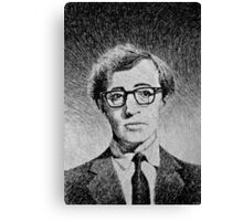 Woody Allen portrait Canvas Print