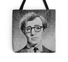 Woody Allen portrait Tote Bag