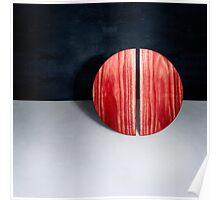 Red Circle Split Poster