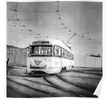 Vintage Streetcar Trolley 3565 Poster