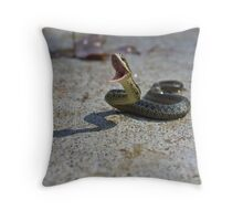 Snake Attack Throw Pillow