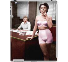 Female Lingerie Model Colorized iPad Case/Skin