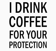 I drink coffee for your protection (black) Men's Baseball ¾ T-Shirt