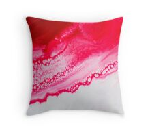Pink & Red Webbing Throw Pillow