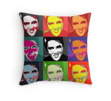 faces of Elvis Throw Pillow